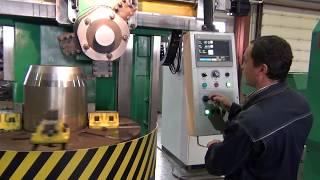 видео Токарно-карусельный станок 1516