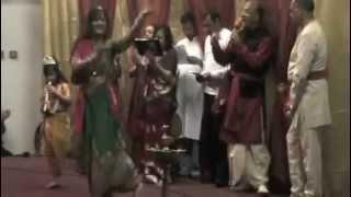 Holi Folk Dance with Priya as Gopi and Devika as Krishna - Atlanta Vedic Temple 2010