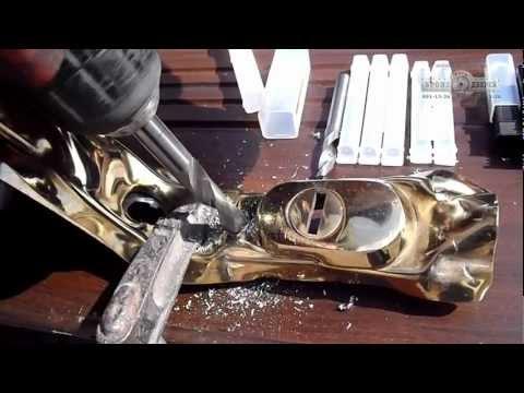 Высверливание ROSTEX R1-R4  Сверление защитной ручки ROSTEX R1-R4 (