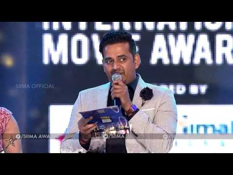 SIIMA 2016 Best Playback Singer (Male) Kannada | Santosh Venky Rajarani - Rhaatee