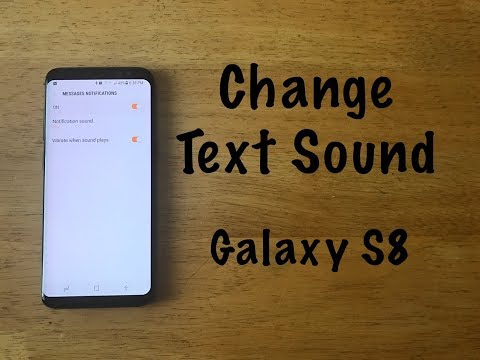 How to change text message sound Galaxy S8 - YouTube