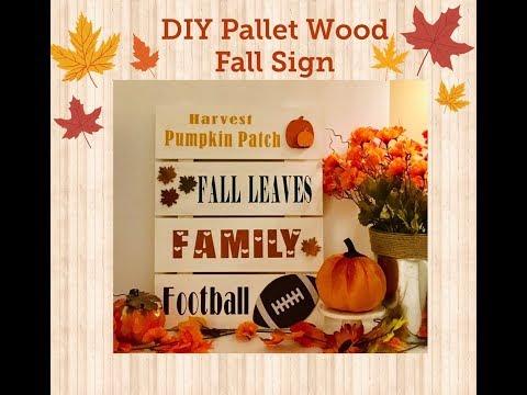 DIY Pallet Wood Fall Sign