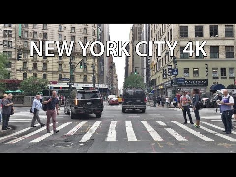 Driving Downtown - New York City USA 4K