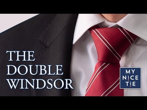 How to Tie a Tie: Double Windsor Knot (slow=beginner, mirrored) The Only Knot You Need to Know