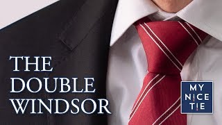 How to Tie a Tie: Doขble Windsor Knot (MIRRORED & SLOW FOR BEGINNERS) The Only Knot You Need to Know