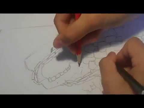 Comment dessiner une t te de mort dessin en duo simple youtube - Dessiner une tete de mort ...