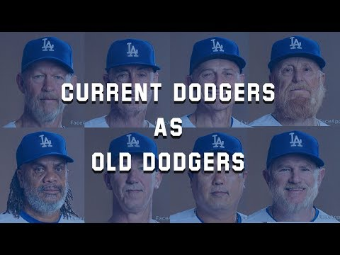 Tim Conway Jr - FaceApp Turns The Dodgers Into 'Old Dodgers'!