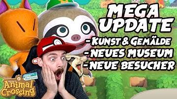 Riesen UPDATE! Kunst & Gemälde, Neues Museum, Neue Besucher - Animal Crossing New Horizons Live