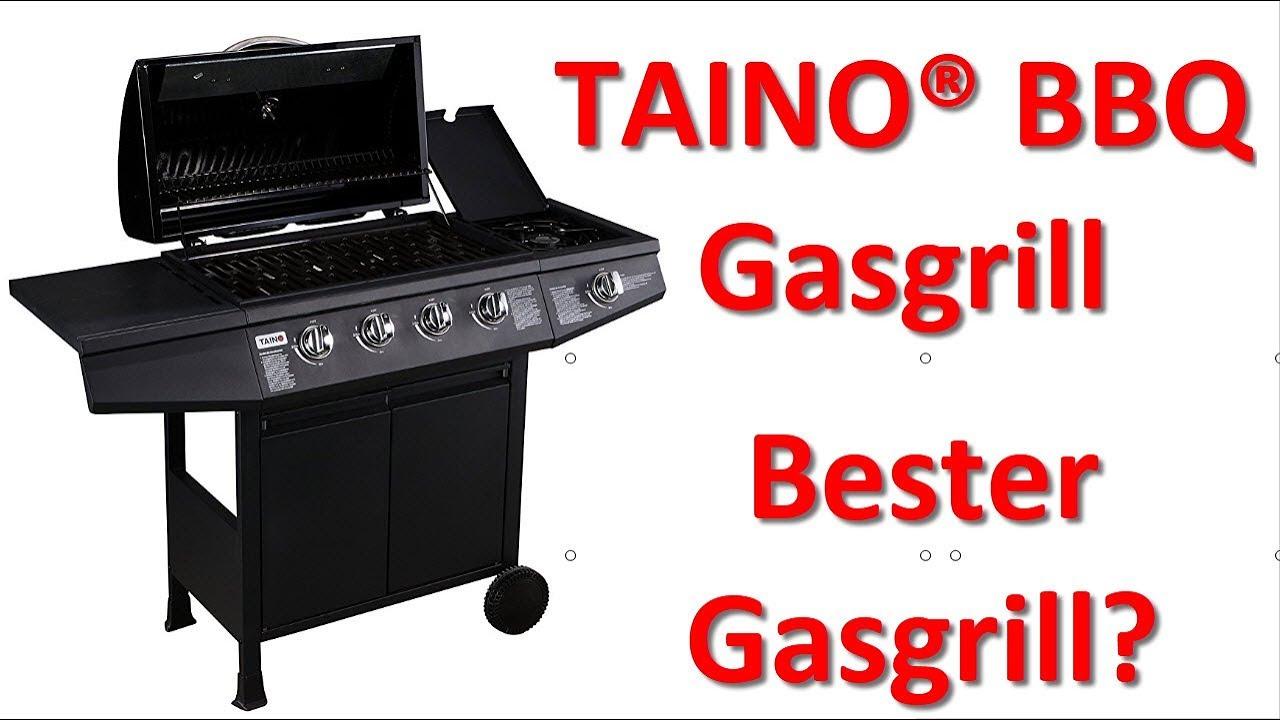 taino bbq gas grill bbq gasgrill grillwagen edelstahl brenner test 2018 bester gasgrill youtube. Black Bedroom Furniture Sets. Home Design Ideas