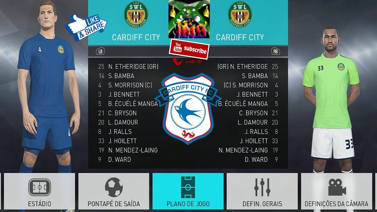 Cardiff City Kits Pes 2018 Xbox One Youtube