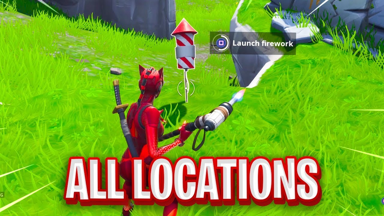 Launch Fireworks Fortnite Map Locations Youtube