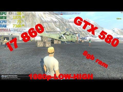 H1Z1 / GTX 580 / i7 860 / 8gb ram / 1080p-LOW-HIGH