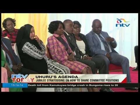 President Uhuru Kenyatta meets Jubilee Members of Parliament at State House