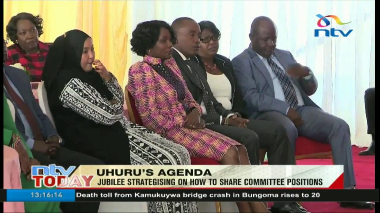 President Uhuru Kenyatta meets Jubilee Members of Parliament at State House