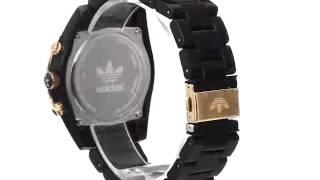 adidas unisex adh2948 brisbane chronograph watch with black nylon band