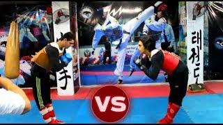 مباراة كونغ فو قوية مهند ومحمد تلاميذ نسر الكونغ فو (أول قتال مبتدئين) Kung fu Real fight