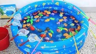 Рыбалка для детей детское видео Игрушки развивающие ловкость и внимание Fishing Game Toy Lots of Fun