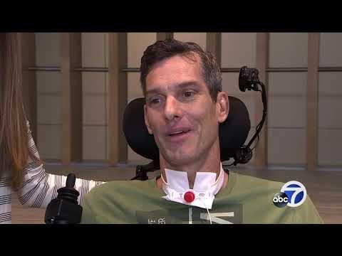 Surfer Brian Hart makes impressive progress after spinal injury