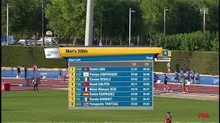 RAMIL GULIYEV WINS MENS 200m at  Mediterranean Games in Tarragona 2018