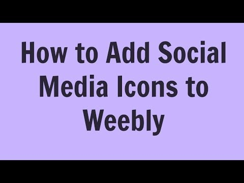How to add Social Media Icons to Weebly