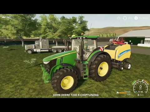 Farm Sim Saturday.....square bale(getting cow ready) Haying and big field of wheat