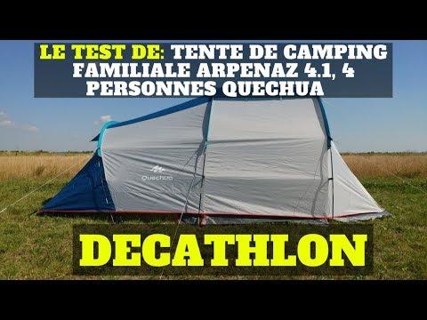 Le test de Tente de c&ing familiale ARPENAZ 4.1 4 personnes QUECHUA - DECATHLON  sc 1 st  YouTube & Le test de: Tente de camping familiale ARPENAZ 4.1 4 personnes ...