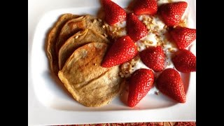 Yummy Low Calorie Banana Peanut Butter Protein Pancakes
