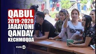 QABUL 2019-2020. ABITURIYENTLAR, NAVBATLAR VA TO'LOV KASSALARI