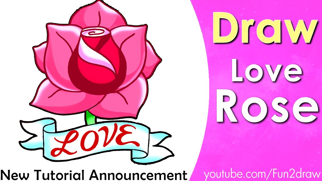 How To Draw A Rose  Draw Easy Art