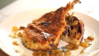 Louise's Crispy Pork Chops And Roasted Cabbage