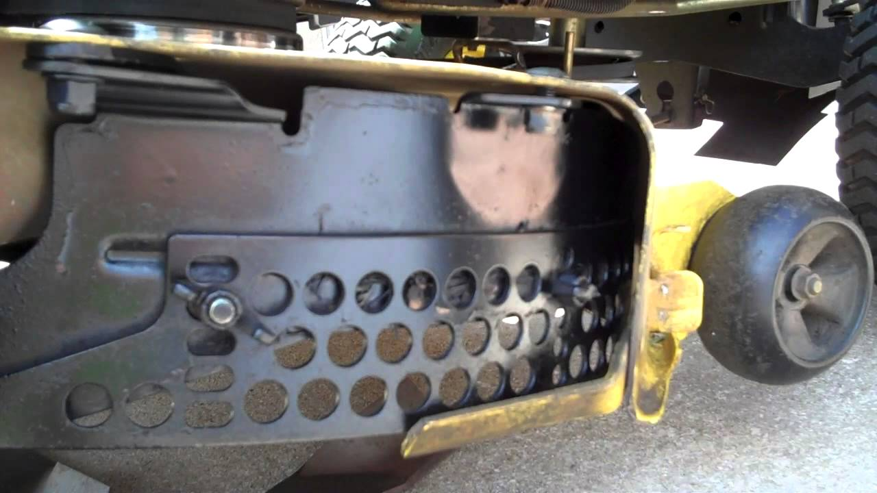 John Deere Mulch Kit Install Amp Blade Change Youtube