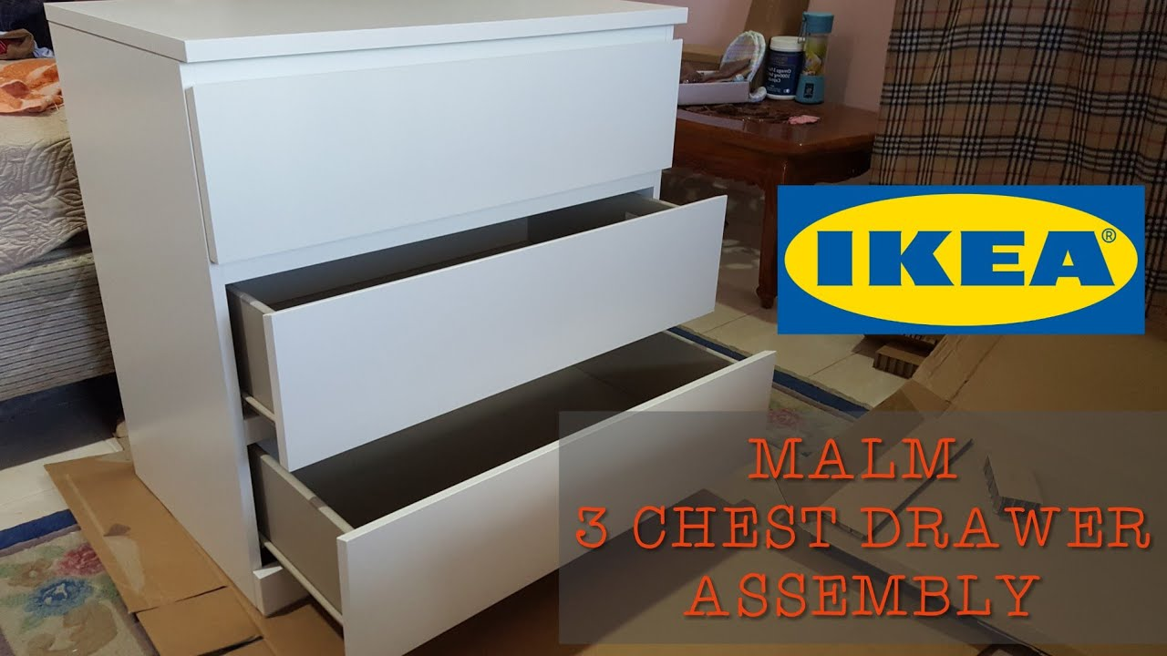 Ikea Malm 3 Chest Drawer Embly You