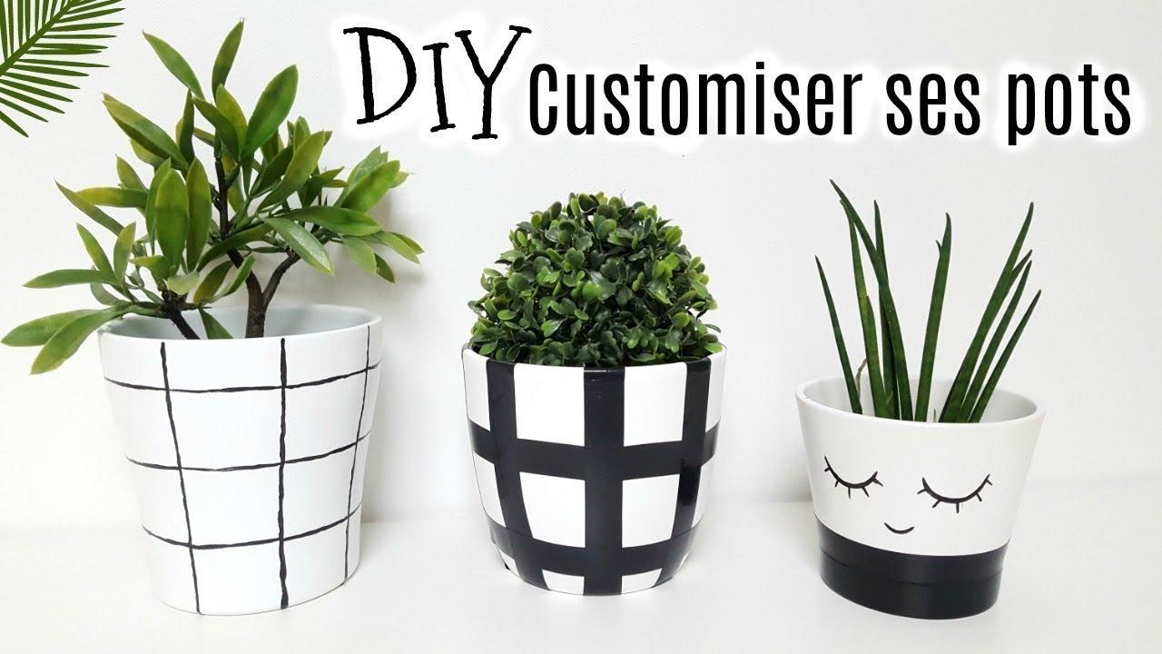 Diy 3 Idees Pour Customiser Des Pots De Fleurs Youtube