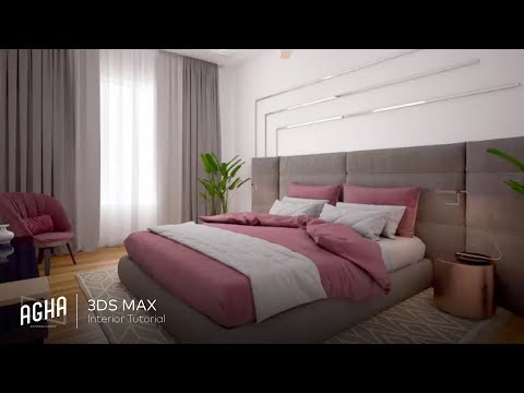 3Ds Max Interior Tutorial Bedroom Vray Rendering Photoshop