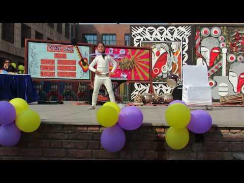 DANCING WITH HULA HOOP by Anishka Kamboj