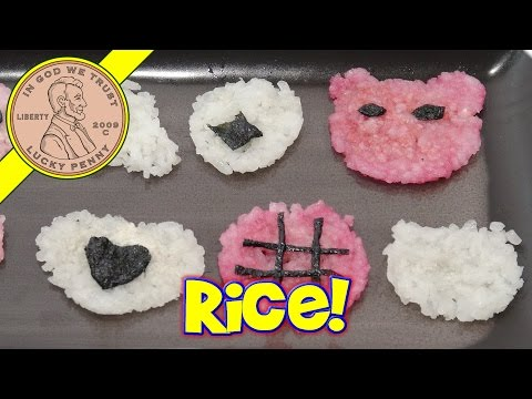 Rice Cracker Cookie Maker - Fun With Leftover Rice!