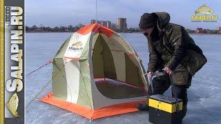 Установка и сборка зимней палатки в сильный ветер [salapinru](Инструкция по установке и сборке палатки в сильный ветер. Долго я его ждал, но все-таки дождался. Настоящий..., 2015-11-10T07:03:17.000Z)
