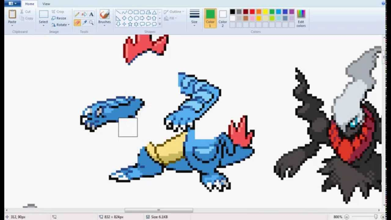 Pokemon Sprite: mega typhlosion - YouTube