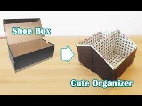 Diy Makeup Storage And Organization Organizer With A Shoe Box