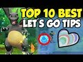 Download Video TOP 10 MOST IMPORTANT TIPS For Pokemon Let's Go Pikachu And Eevee! MP4,  Mp3,  Flv, 3GP & WebM gratis
