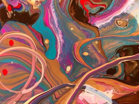 Acrylic Pour Painting: Dirty Pour Ribbon Technique