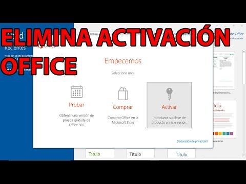 Elimina pantalla de activacion office 365, 2016, 2017