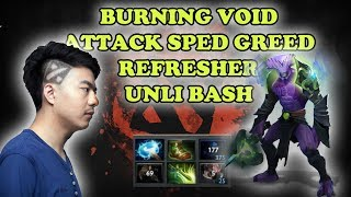 Burning Void Attack Speed Greed with Refresher for Unlibash DOTA 2 HIGHLIGHTS