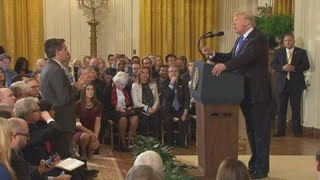 President Trump & CNNs Jim Acosta have heated exchange