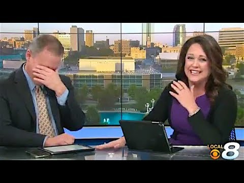 News Anchor's Contagious Laughter