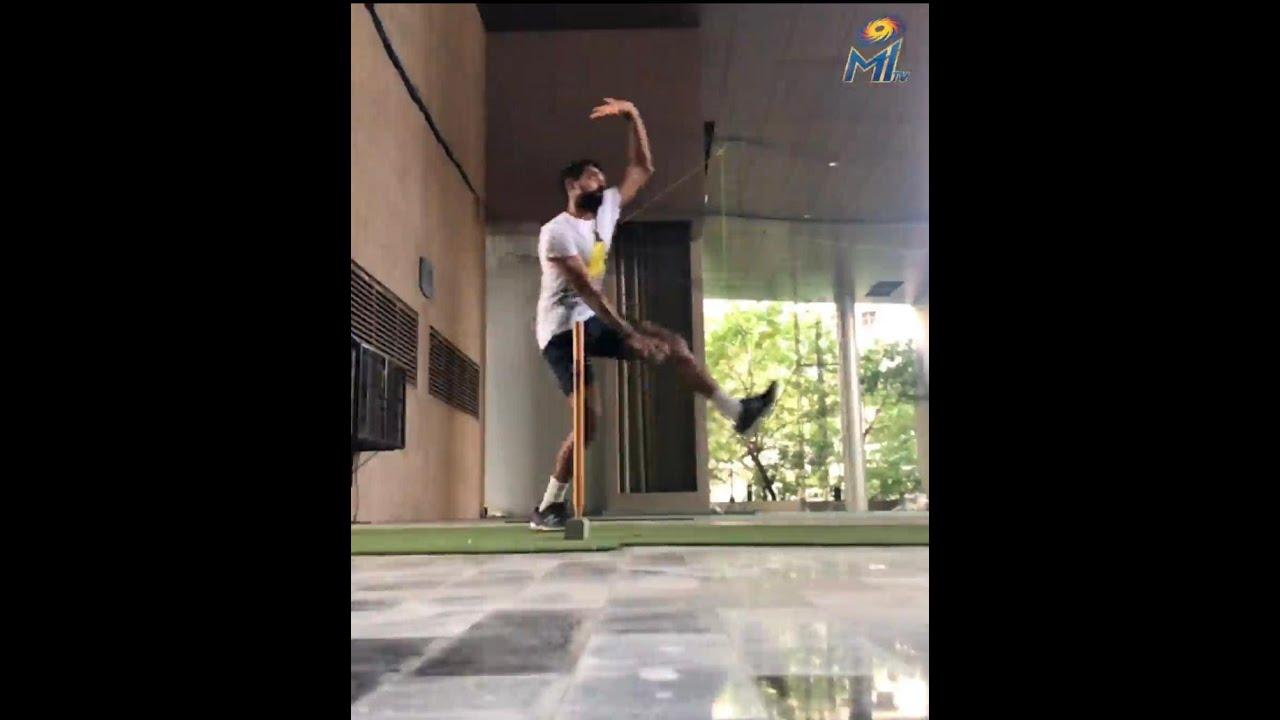 Dhawal Kulkarni indoor training | Mumbai Indians