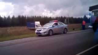 Страшное ДТП с большегрузами на трассе М 5 Самара - Уфа - Челябинск