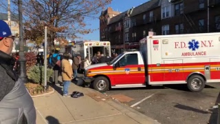 Car crashed into building 5th Avenue and 95th St, Bay Ridge Brooklyn (Blue bloods TV show set)