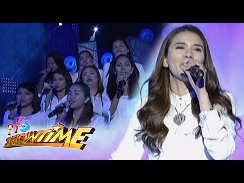 Karylle sings I Say A Little Prayer on It's Showtime stage