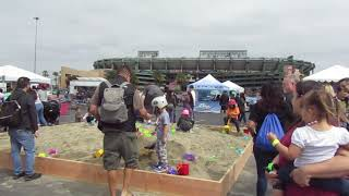 Video still for Sandbox Fun at Construction vs. Cancer, April 28, Angel Stadium, Anaheim, Calif.